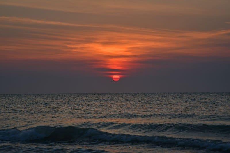 sunset on the beach near Mérida, Yucatán
